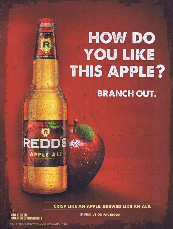 Redds Apple Ale Beer 2013 Original Advertisement Free Shipping