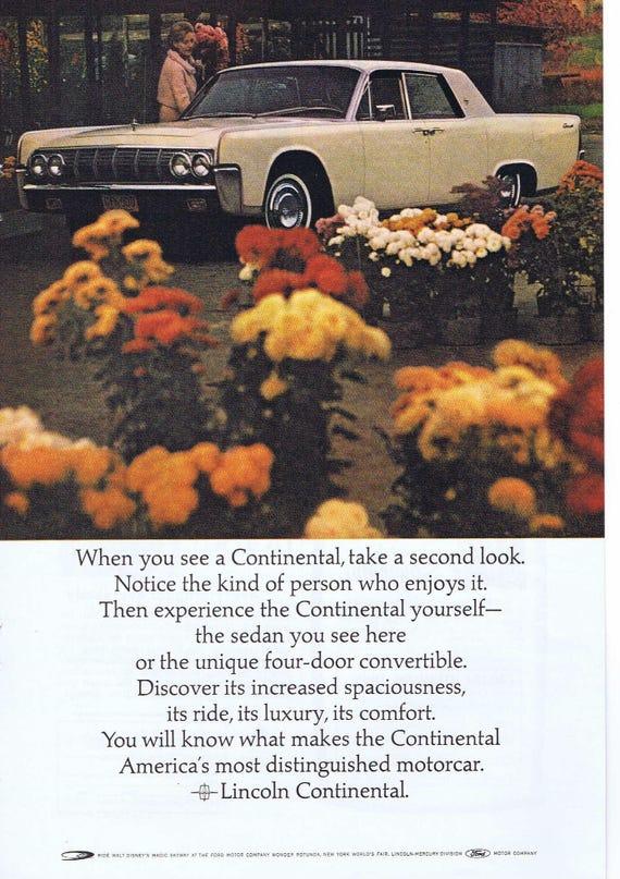 1964 Lincoln Continental Automobile Original Vintage Etsy