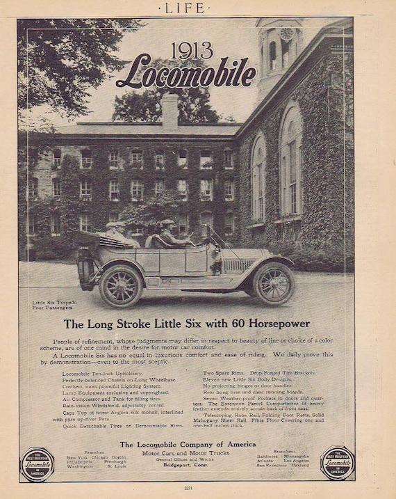 1913 Locomobile Long Stroke Little Six Car Original Advertisement