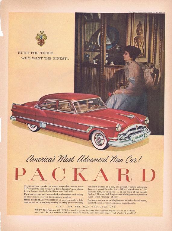 1953 Packard Clipper Automobile Original Vintage Advertisements