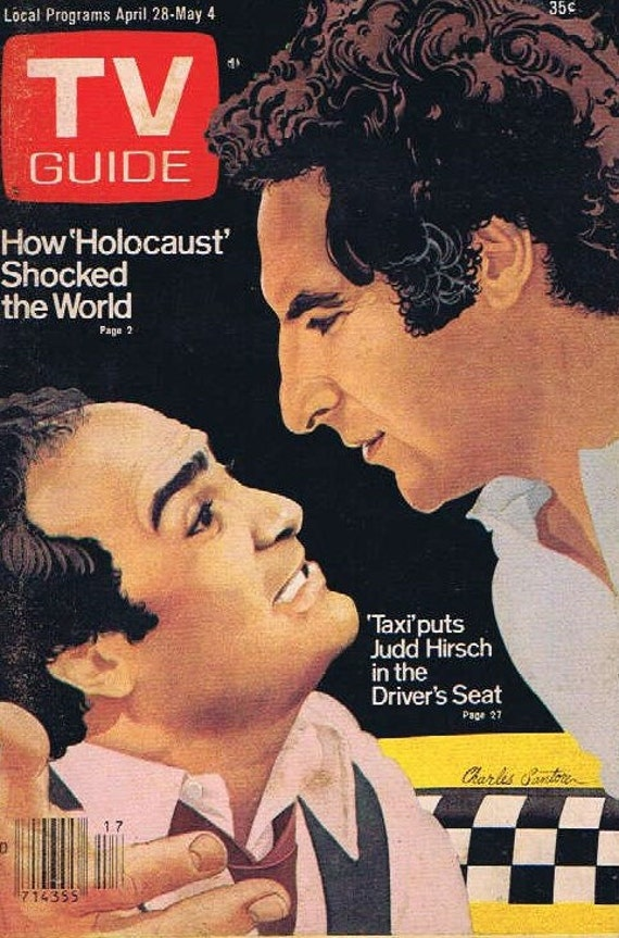 TV Guide April 28-May 4 1979 with Taxi TV Series Cover with Judd Hirsch and Danny DeVito