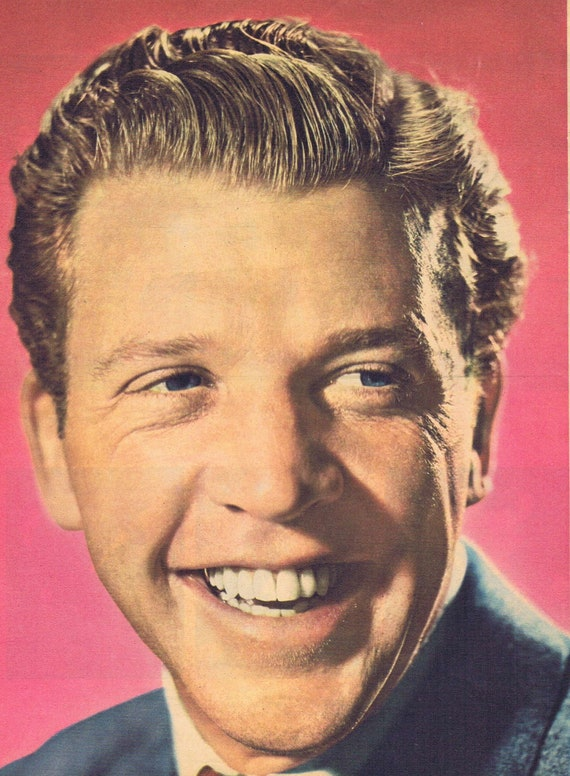 1952 Dan Dailey Classic Film Star Magazine Vintage Color Photo with Charming Smile