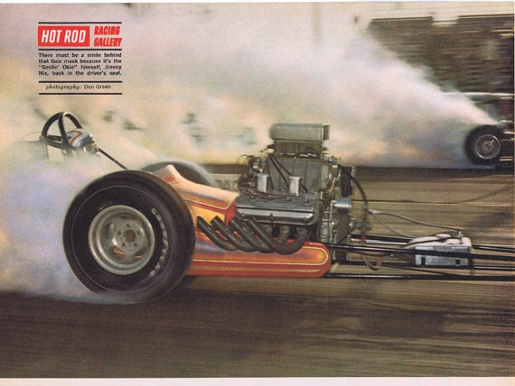 1968 Smiling Okie Hot Rod Racing Gallery Photo with Jimmy Nix