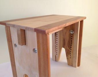 Adjustable Height Stool, Solid Wood Bench, Childu0027s Stool, Adjustable  Meditation Stool, Cello