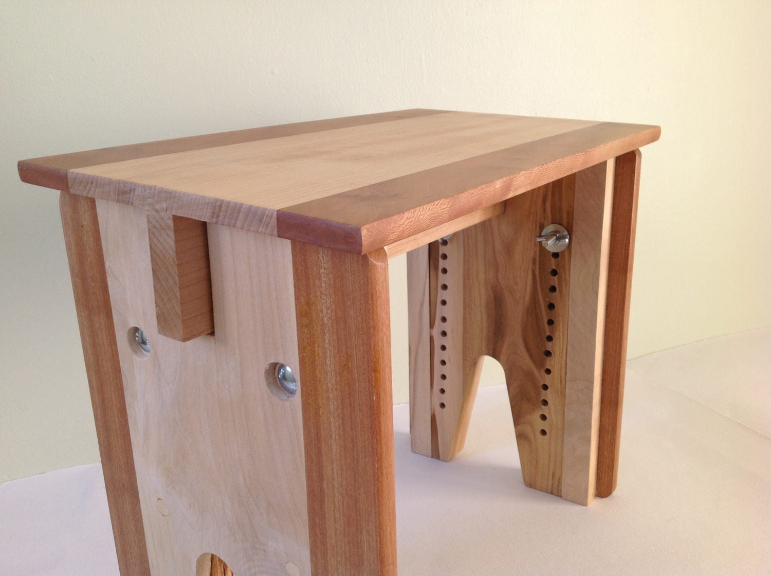 Adjustable Height Stool Solid Wood Bench Child S Stool Etsy
