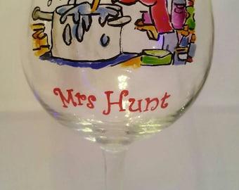 Handpainted personalised glass