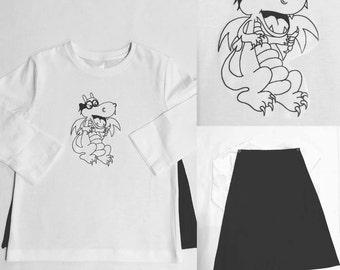Dragon Cape T shirt
