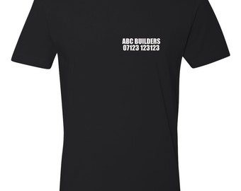 Create your own work T-Shirt (text on front and back)