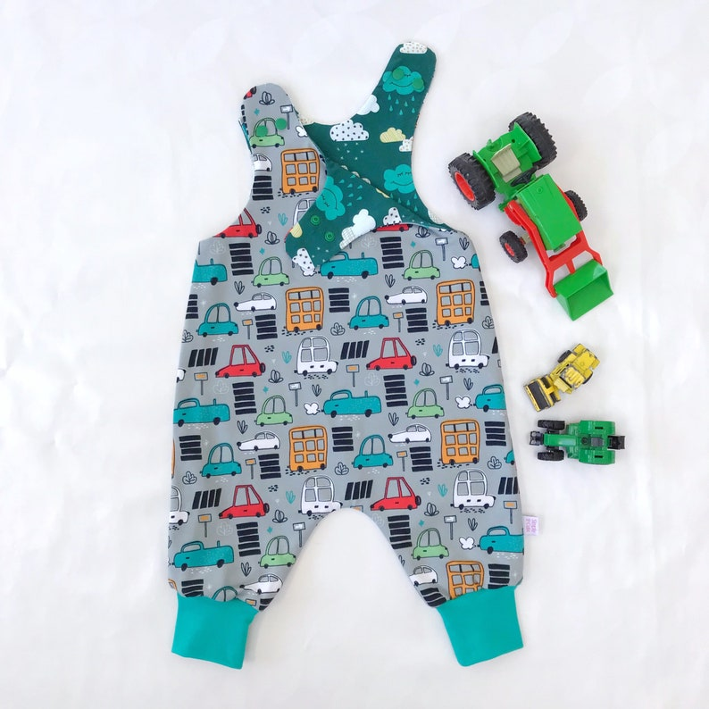 d6aac5be6207 Baby Boy Romper Baby Boy OutfitToddler Car Dungaree Infant