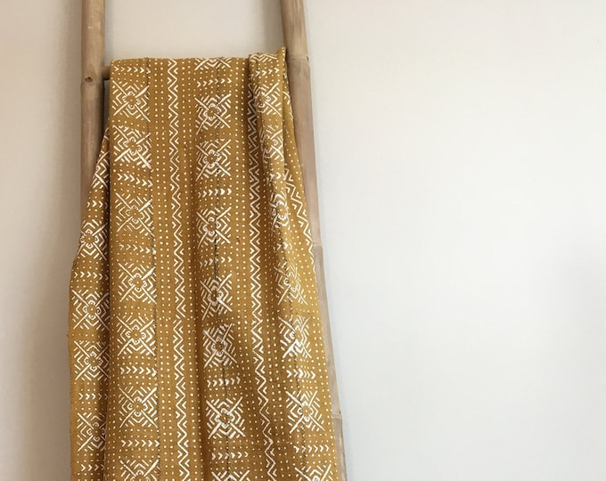 Yellow Mud Cloth Blanket