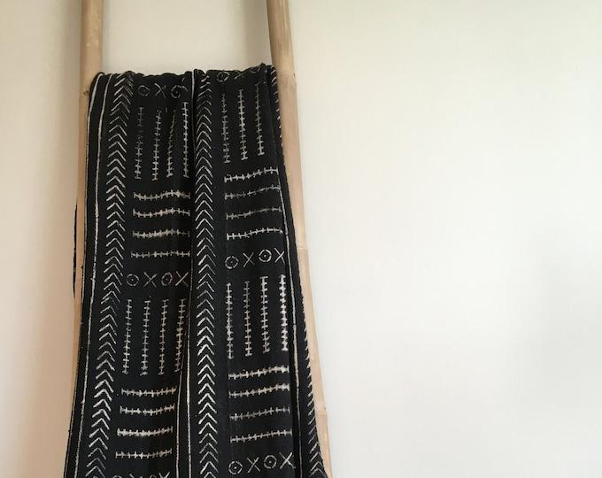 Black Mud Cloth Blanket
