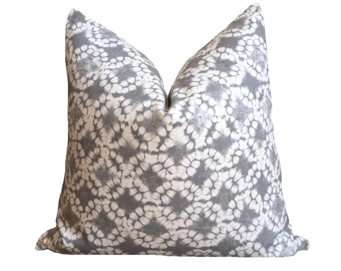 """18""""x18"""" Grey Shibori Print Pillow Cover"""