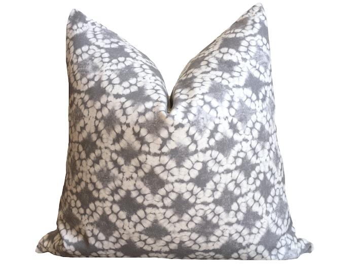 CHIBO || Grey Shibori Print Pillow Cover || SALE ITEM