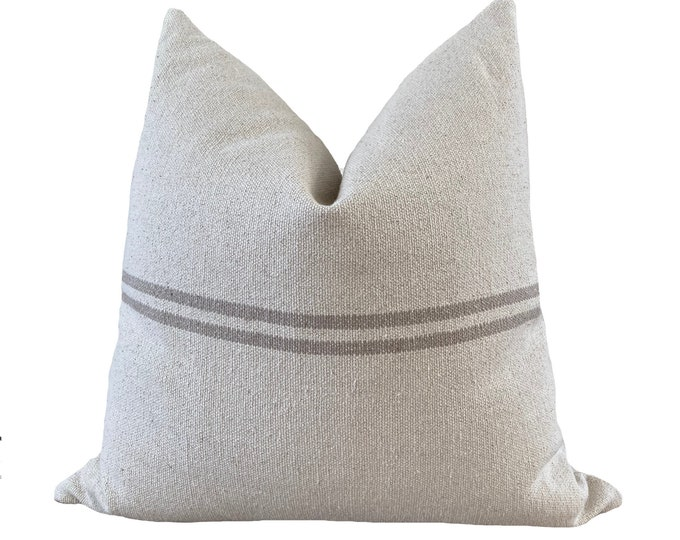 JOELLE || Grain Sack Pillow Cover | Heavy canvas, handwoven | Origin: France