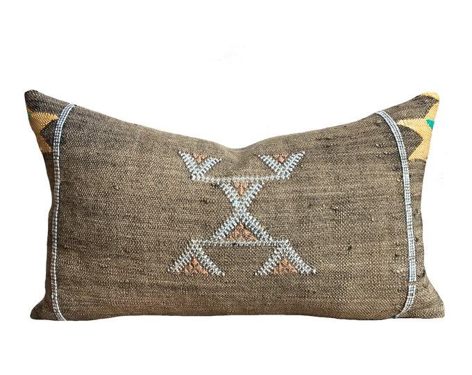 Authentic Moroccan Sabra Cactus Silk Pillow