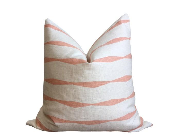 Skinny laMinx Pillow Warm Pink Geometric