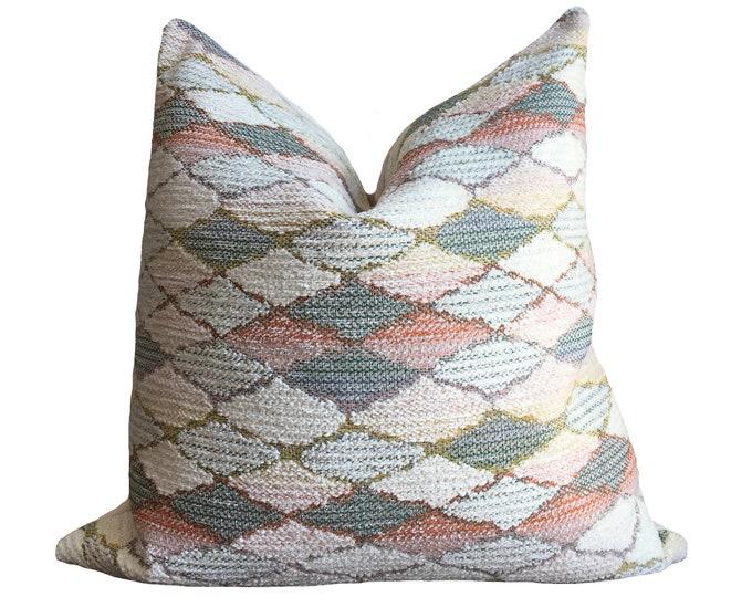 Designer Pillow Pink Geometric