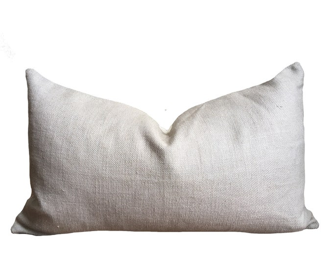 "12""x20"" Belgian Linen Pillow Cover, Heather Gray"