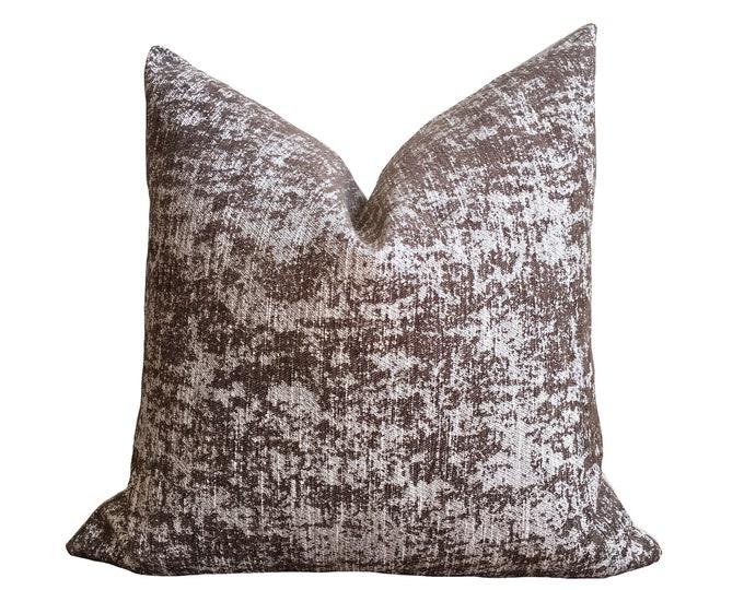 """18""""x18"""" Moss Brown Velvet Pillow Cover"""