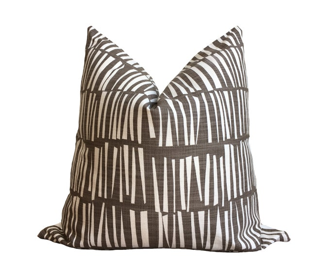Designer Pillow Coffee Brown Geometric