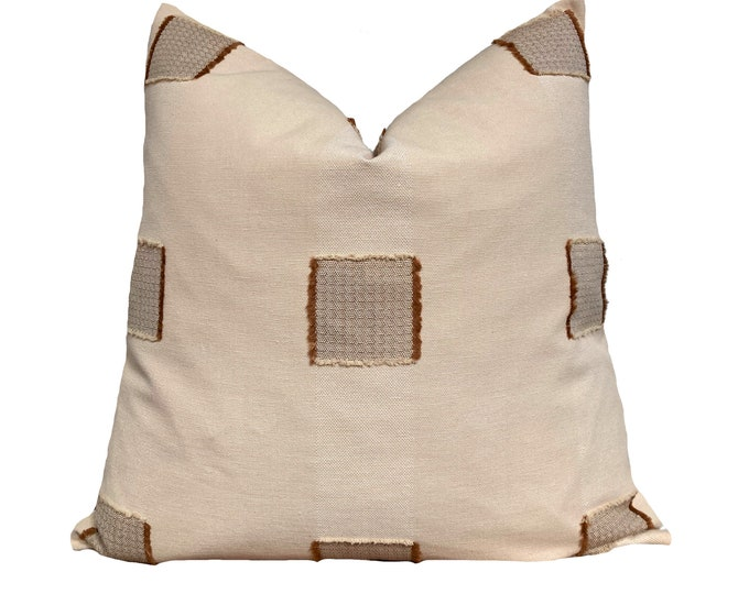 Hand Loomed Chiangmai Cotton Pillow Cover, Terracotta Pillow, Kussenhoes