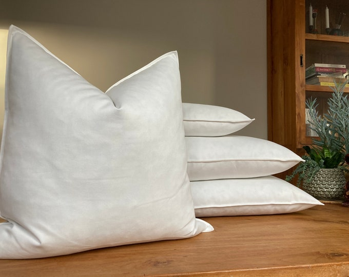 Feather Pillow Insert, sustainable + handmade + high quality