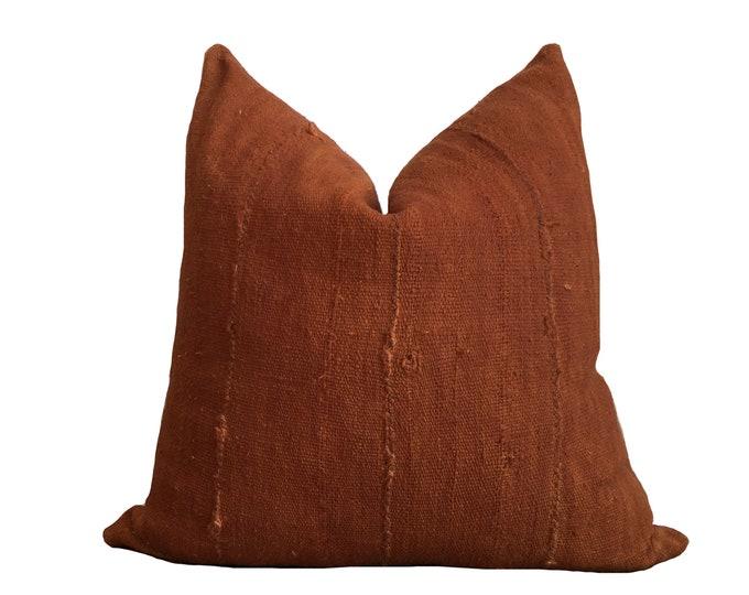 Mudcloth Pillow Cover Rust Orange