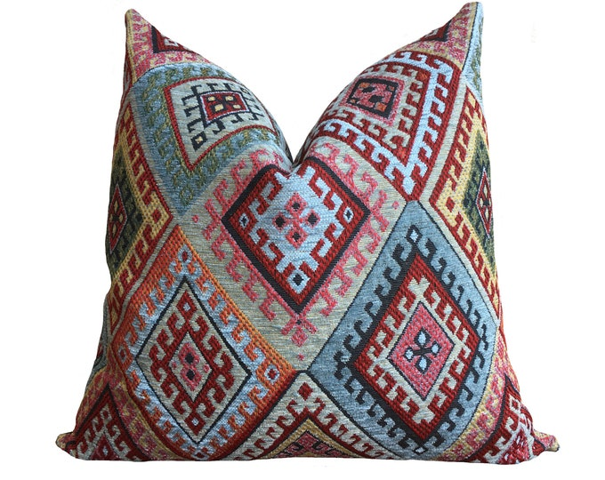 FASA || Blue Kilim Pillow Cover | SALE ITEM