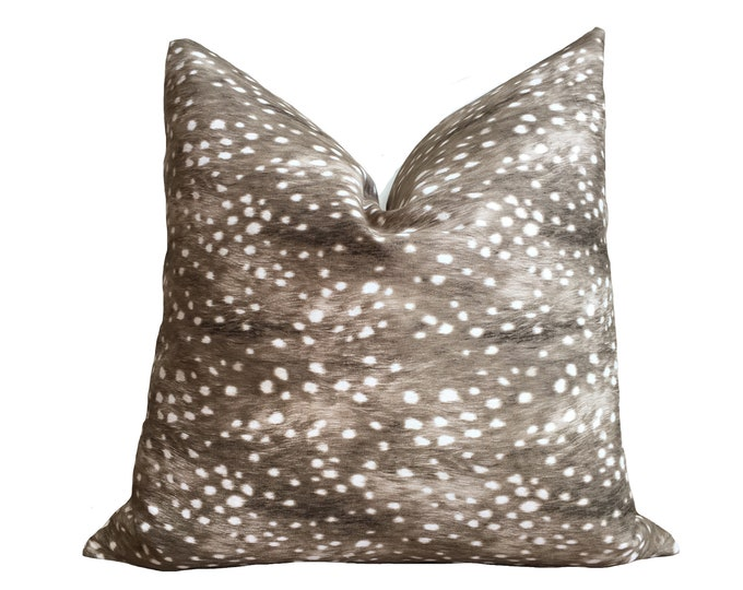 Fawn Print Pillow Cover