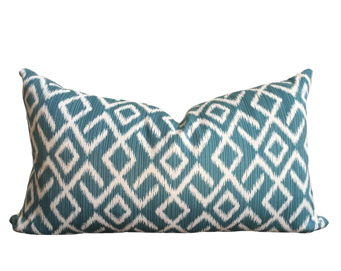 MONA || Blue Ikat Pillow Cover | SALE ITEM