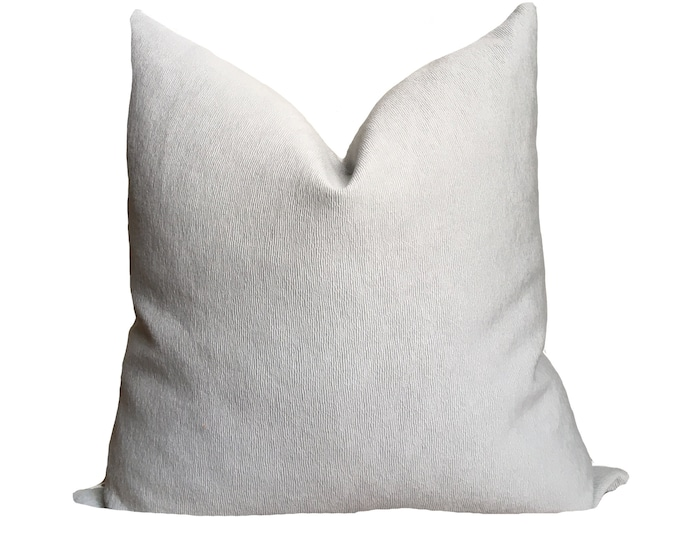 Warm Blue Grey Pillow Cover