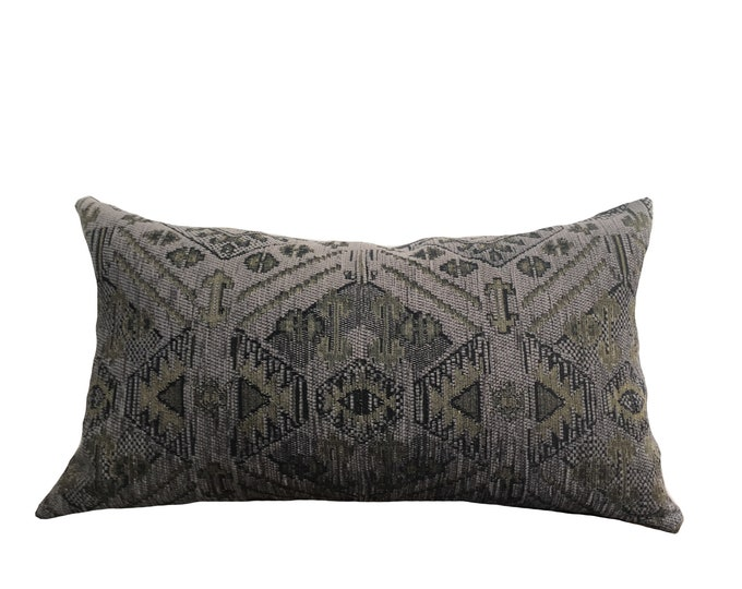 Designer Pillow Purple Ikat Motif