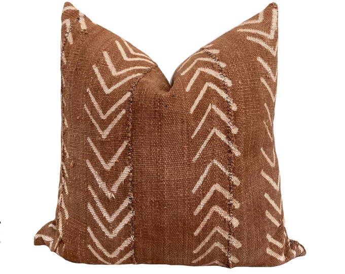 Mudcloth Pillow Cover, Modderdoek, Bogolan, Brown African Mudcloth