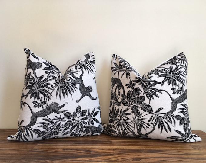 TAZA    Monkey Pillow Jungle Style   100% cotton