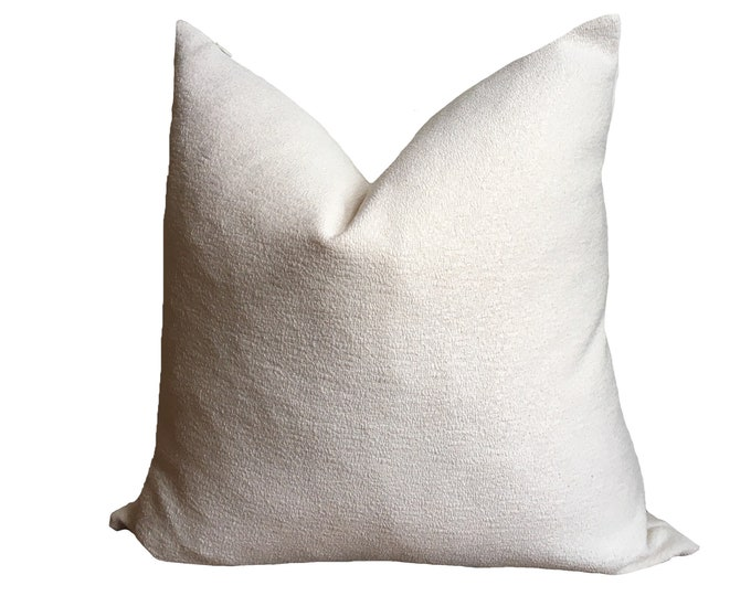 White Boucle Style Pillow Cover, Kussenhoes