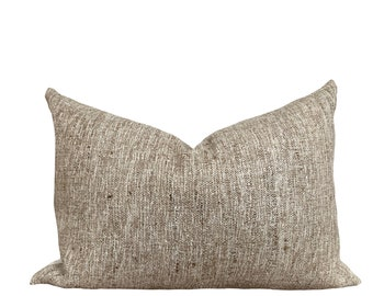 DAKSH   Authentic Hand Loomed Raw Silk Pillow    Origin: India