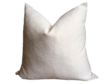Plush White Pillow Cover, Kussenhoes