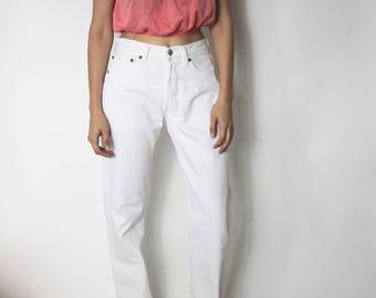 Vintage Levi's 501 Denim Jeans 26 | Levis 501 High Waist Denim Jeans | White Denim Jeans | Levis 501 White Jeans