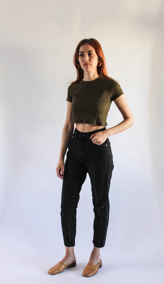 Vintage 90s Black DKNY Jeans 23 | 90s High Waist F