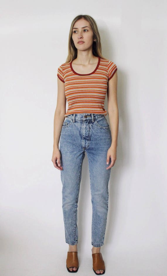 Acid Jeans 22 Denim Waist High High Jeans Vintage Waist Wash Jeans Mom High Jeans 1980s Waist xn0qza