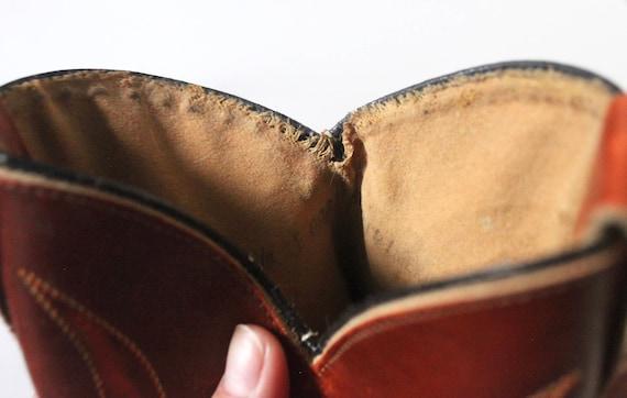 Bottes bottes cow Vintage des bottes Brune de boy en Brun de Cowboy 1980 marrons Western cuir Bottes rqAfr