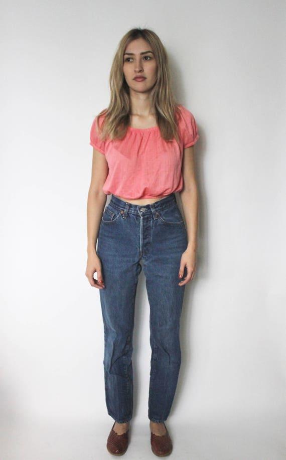 Vintage Levis 501 Denim Jeans 24 | High Waist Lev… - image 2