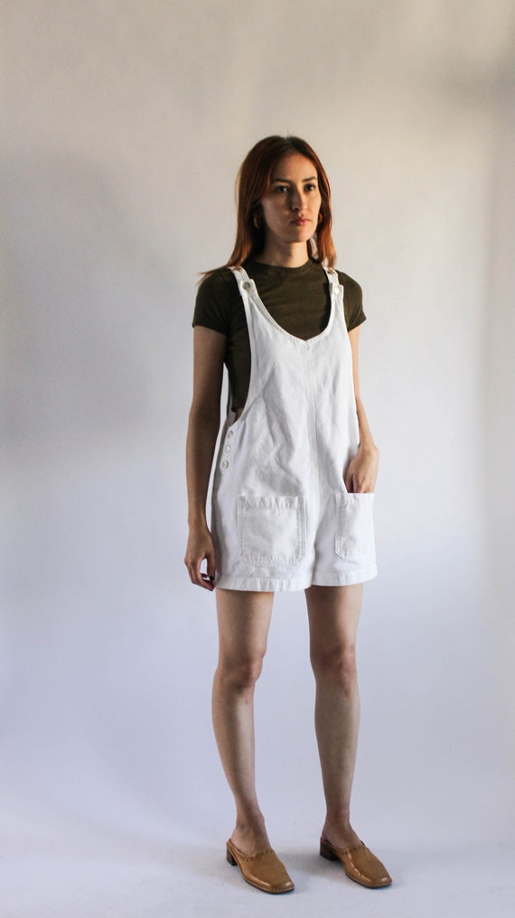 Vintage 1990s White Denim Jumper | 90s White Jumpe