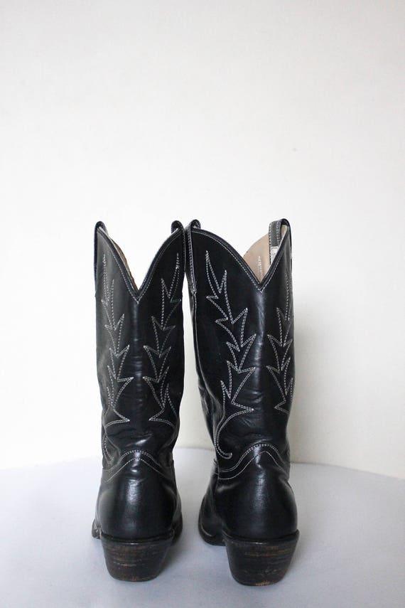 Vintage 1980s Cowboy Boots   Black Cowboy Boots  … - image 5