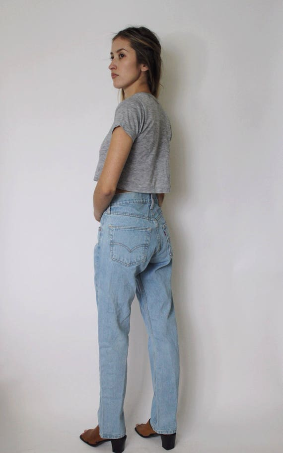 Jeans 501 Blue Vintage Denim Denim Jeans 29 Waist High Jeans Light Denim Levi's 501 Levis q5qwpt