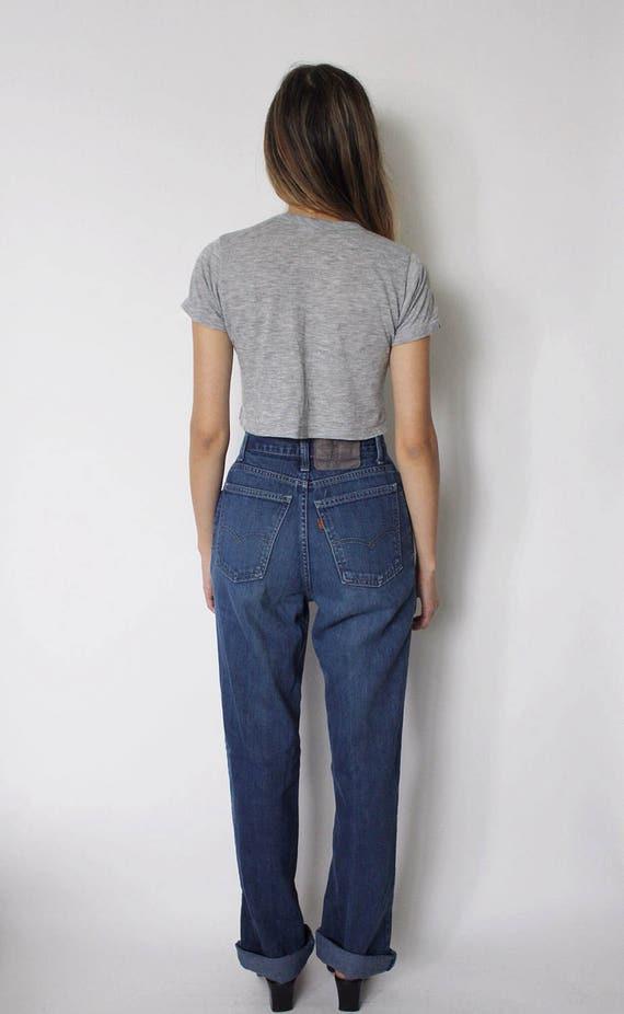Vintage 1970s Levi's Denim Jeans 24 | Levis High … - image 4
