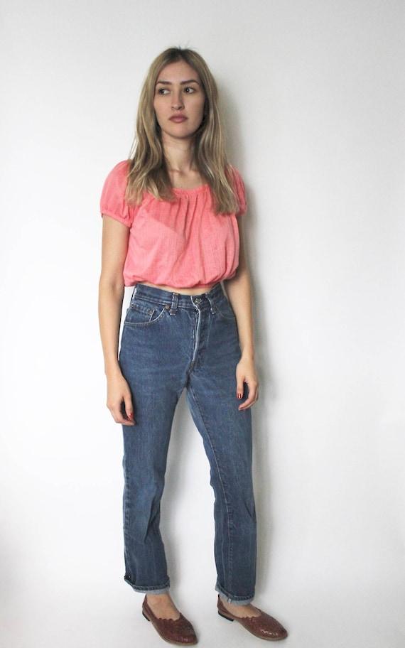 Vintage Levis 501 Denim Jeans 24 | High Waist Lev… - image 3