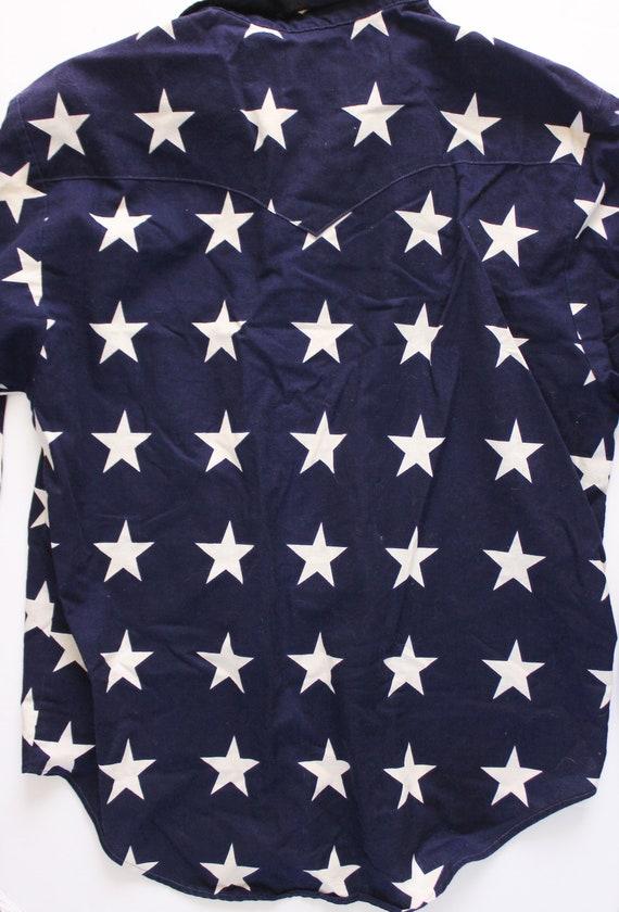 Vintage 1990s USA Shirt   Star Top   Star Button … - image 8