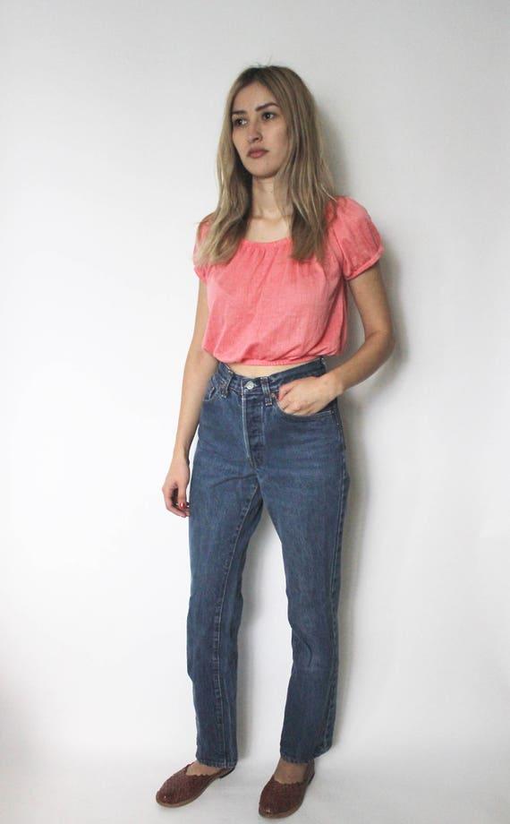 Vintage Levis 501 Denim Jeans 24 | High Waist Levi