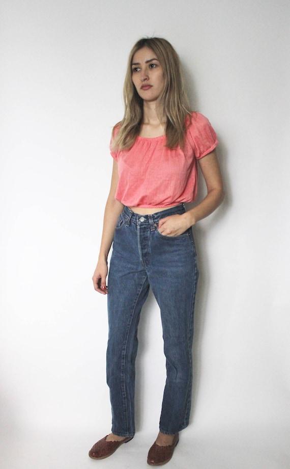 Vintage Levis 501 Denim Jeans 24 | High Waist Lev… - image 1